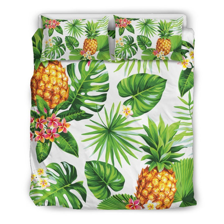 Aloha Hawaiian Pineapple Pattern Print Duvet Cover Bedding Set GearFrost
