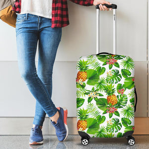 Aloha Hawaiian Pineapple Pattern Print Luggage Cover GearFrost