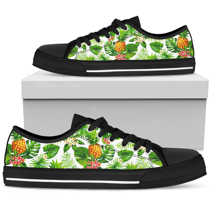 Aloha Hawaiian Pineapple Pattern Print Men's Low Top Shoes GearFrost