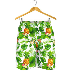 Aloha Hawaiian Pineapple Pattern Print Men's Shorts GearFrost