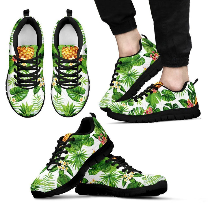 Aloha Hawaiian Pineapple Pattern Print Men's Sneakers GearFrost