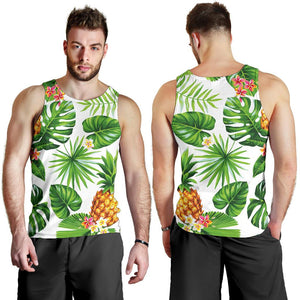Aloha Hawaiian Pineapple Pattern Print Men's Tank Top GearFrost