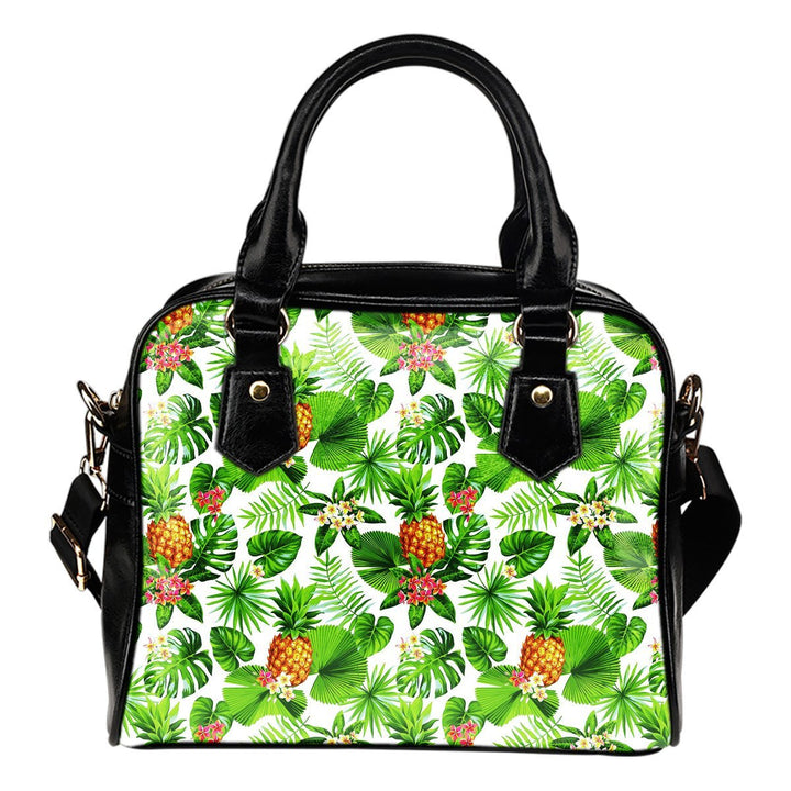 Aloha Hawaiian Pineapple Pattern Print Shoulder Handbag GearFrost