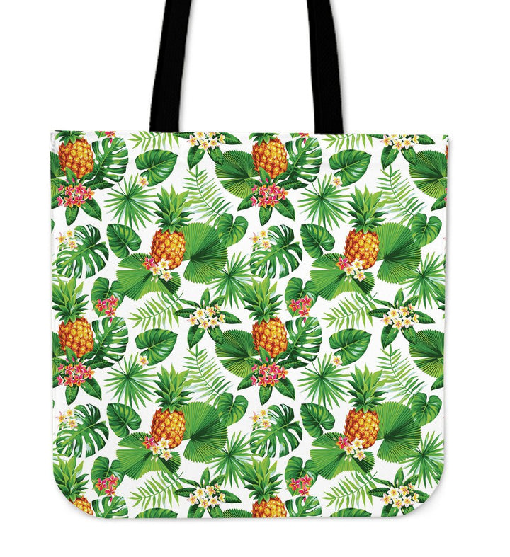 Aloha Hawaiian Pineapple Pattern Print Tote Bag GearFrost