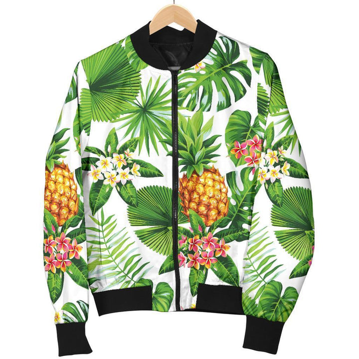 Aloha Hawaiian Pineapple Pattern Print Women's Bomber Jacket GearFrost