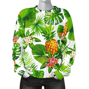 Aloha Hawaiian Pineapple Pattern Print Women's Crewneck Sweatshirt GearFrost