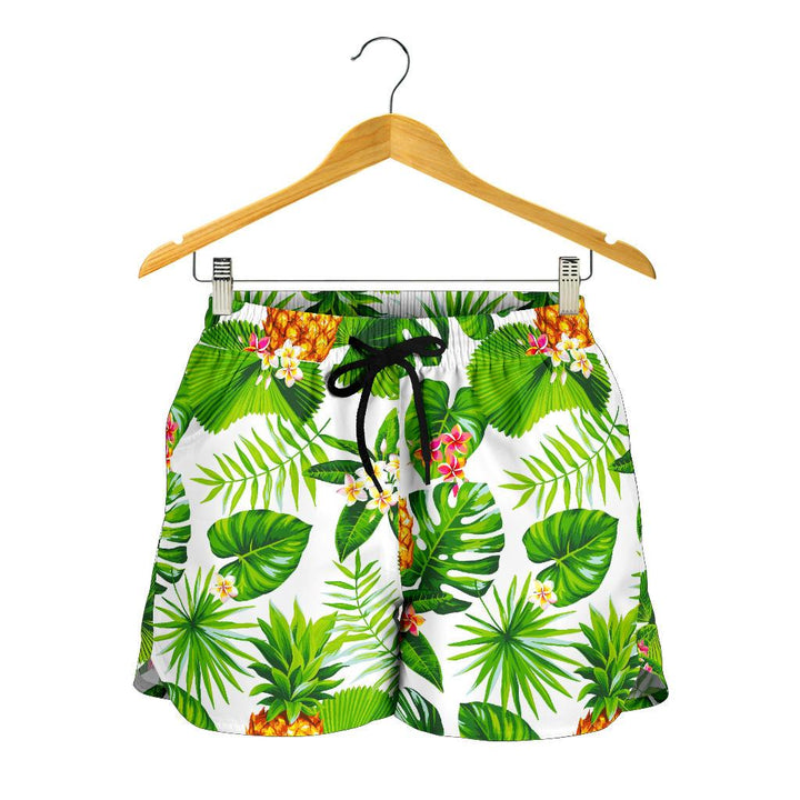 Aloha Hawaiian Pineapple Pattern Print Women's Shorts GearFrost
