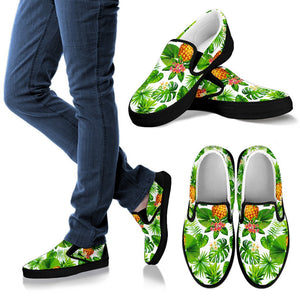 Aloha Hawaiian Pineapple Pattern Print Women's Slip On Shoes GearFrost