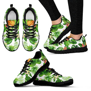 Aloha Hawaiian Pineapple Pattern Print Women's Sneakers GearFrost