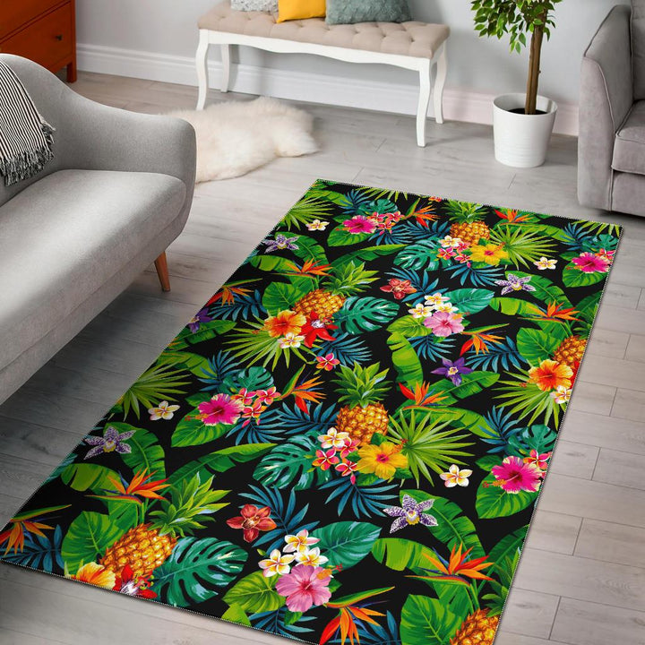 Aloha Hawaiian Tropical Pattern Print Area Rug GearFrost