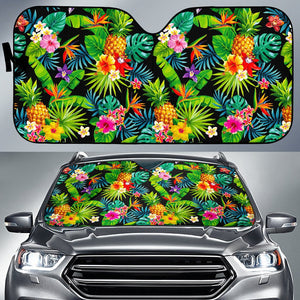 Aloha Hawaiian Tropical Pattern Print Car Sun Shade GearFrost