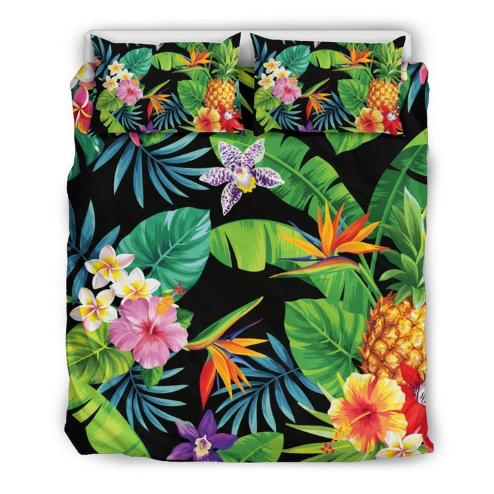 Aloha Hawaiian Tropical Pattern Print Duvet Cover Bedding Set GearFrost