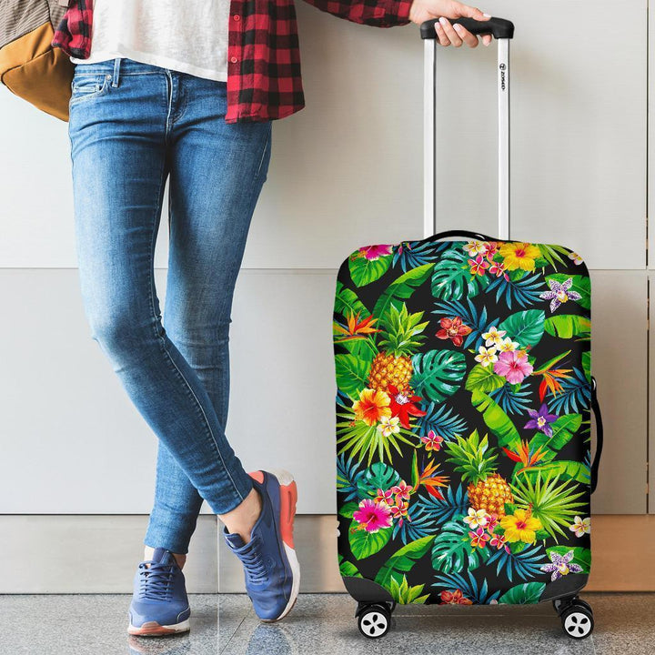 Aloha Hawaiian Tropical Pattern Print Luggage Cover GearFrost