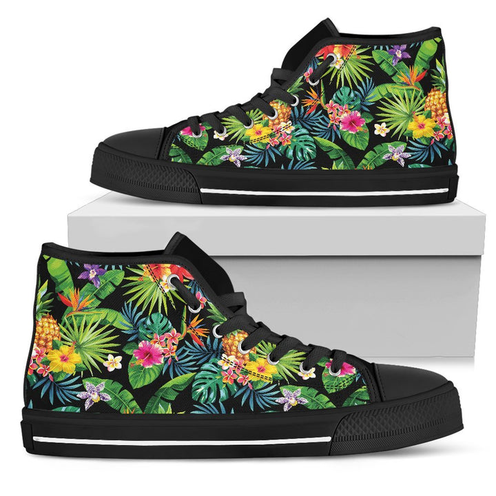Aloha Hawaiian Tropical Pattern Print Men's High Top Shoes GearFrost