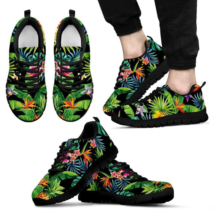 Aloha Hawaiian Tropical Pattern Print Men's Sneakers GearFrost
