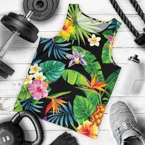 Aloha Hawaiian Tropical Pattern Print Men's Tank Top GearFrost
