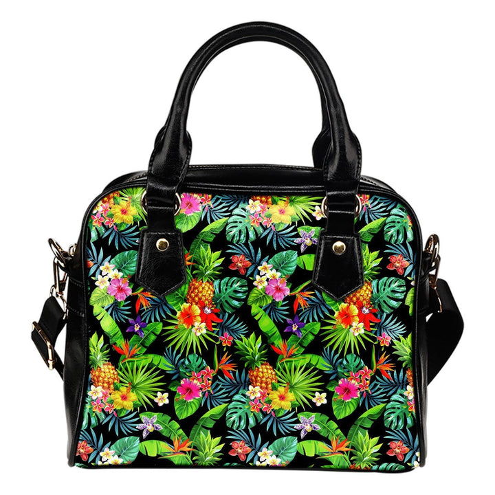 Aloha Hawaiian Tropical Pattern Print Shoulder Handbag GearFrost