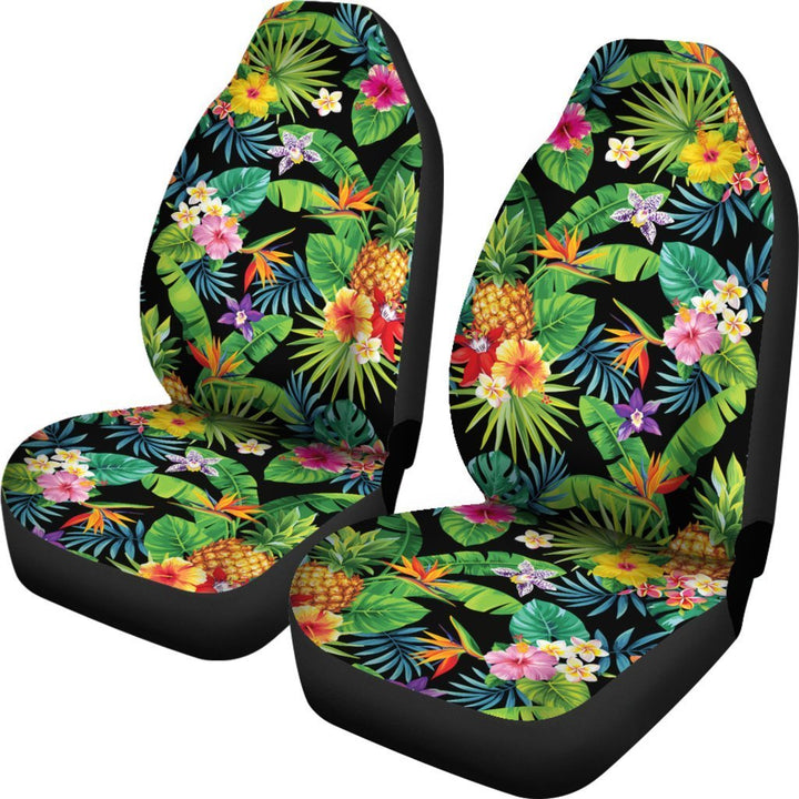 Aloha Hawaiian Tropical Pattern Print Universal Fit Car Seat Covers GearFrost