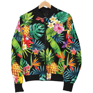 Aloha Hawaiian Tropical Pattern Print Women's Bomber Jacket GearFrost