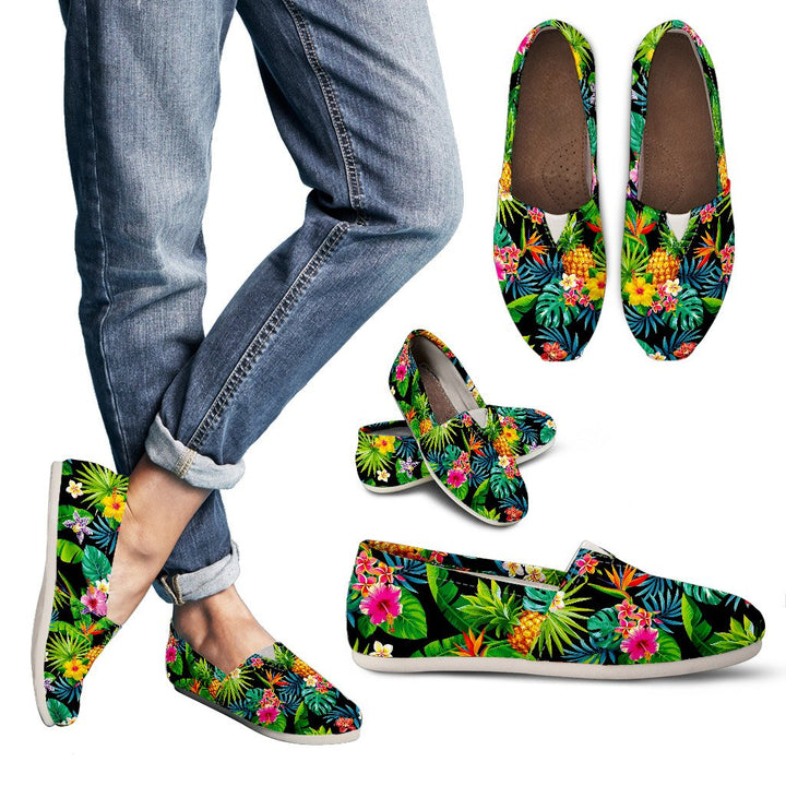 Aloha Hawaiian Tropical Pattern Print Women's Casual Shoes GearFrost