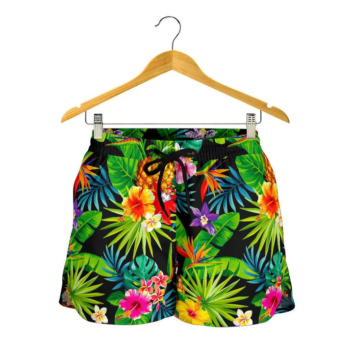 Aloha Hawaiian Tropical Pattern Print Women's Shorts GearFrost