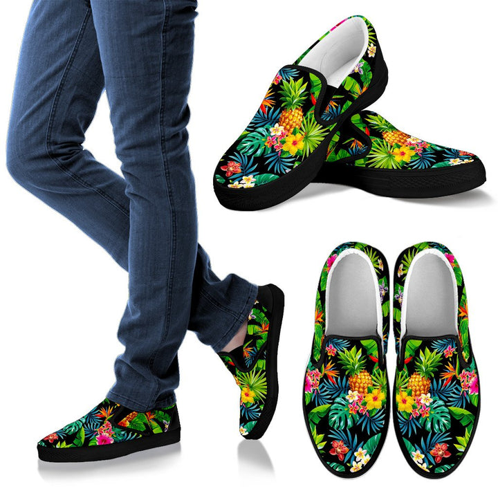 Aloha Hawaiian Tropical Pattern Print Women's Slip On Shoes GearFrost