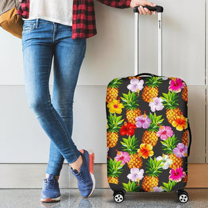 Aloha Hibiscus Pineapple Pattern Print Luggage Cover GearFrost