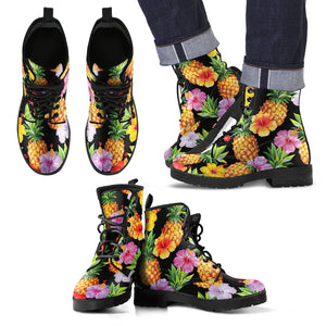 Aloha Hibiscus Pineapple Pattern Print Men's Boots GearFrost