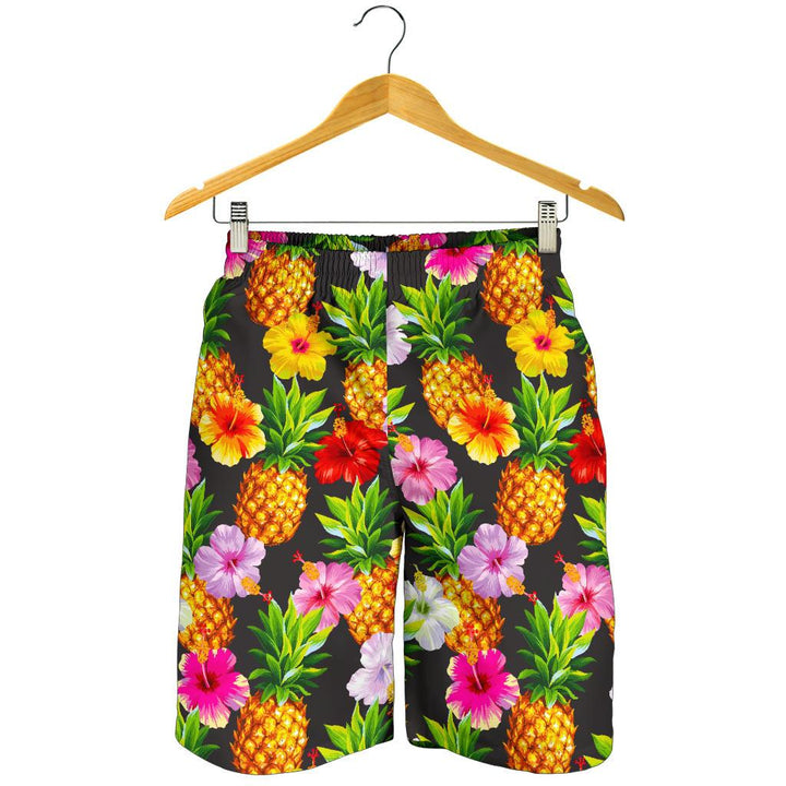 Aloha Hibiscus Pineapple Pattern Print Men's Shorts GearFrost