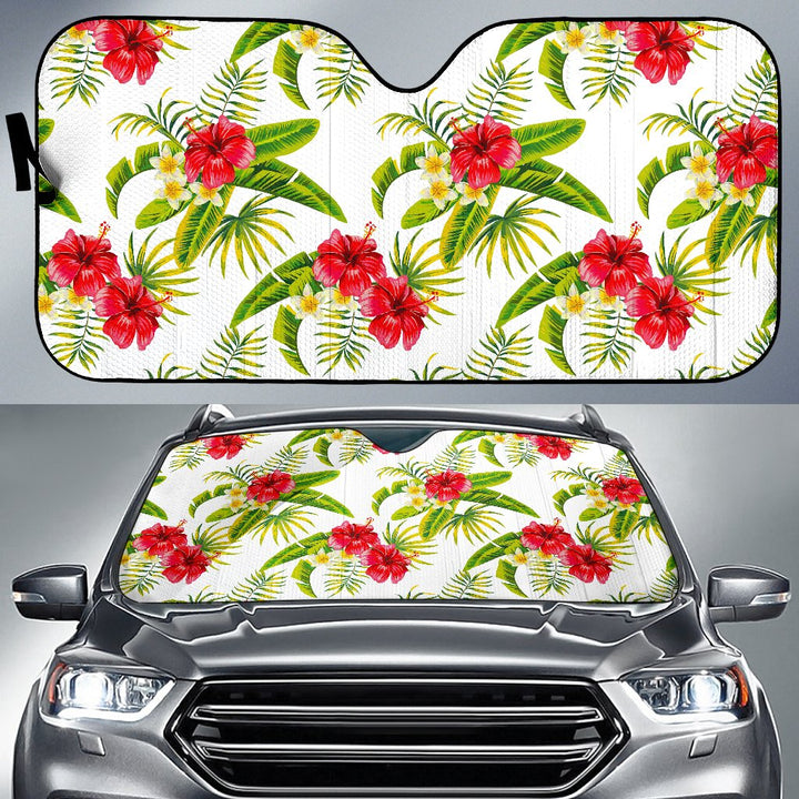 Aloha Hibiscus Tropical Pattern Print Car Sun Shade GearFrost