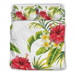 Aloha Hibiscus Tropical Pattern Print Duvet Cover Bedding Set GearFrost