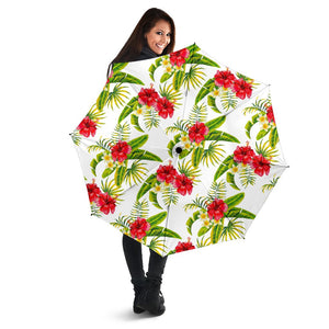 Aloha Hibiscus Tropical Pattern Print Foldable Umbrella GearFrost