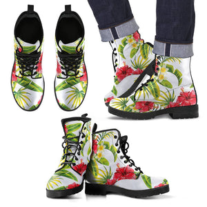Aloha Hibiscus Tropical Pattern Print Men's Boots GearFrost