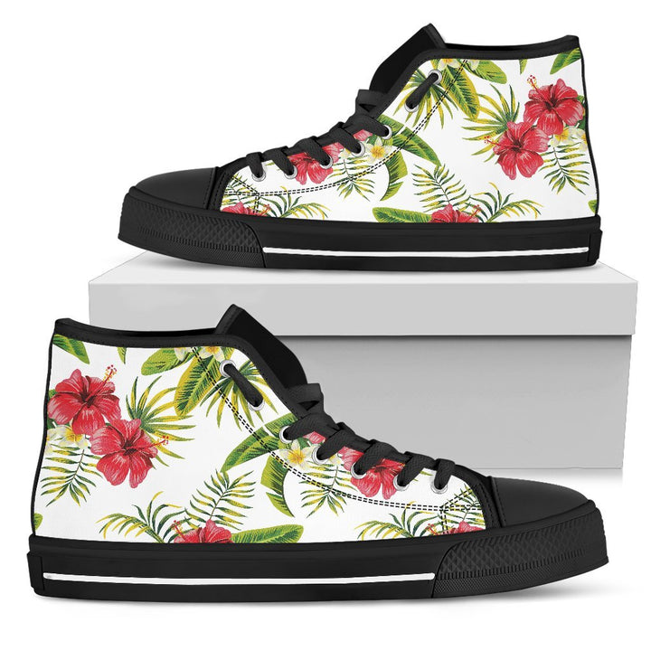 Aloha Hibiscus Tropical Pattern Print Men's High Top Shoes GearFrost