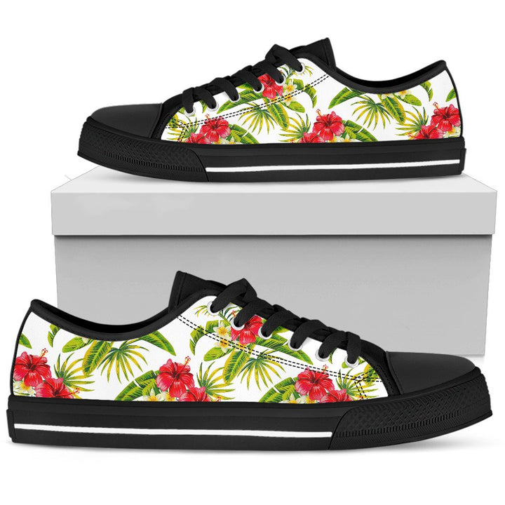 Aloha Hibiscus Tropical Pattern Print Men's Low Top Shoes GearFrost