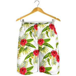 Aloha Hibiscus Tropical Pattern Print Men's Shorts GearFrost