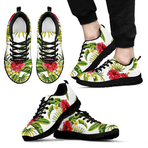 Aloha Hibiscus Tropical Pattern Print Men's Sneakers GearFrost