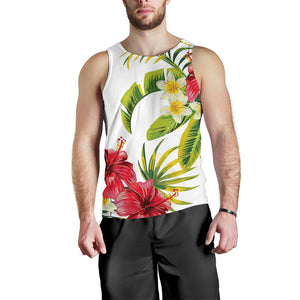 Aloha Hibiscus Tropical Pattern Print Men's Tank Top GearFrost