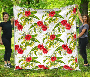 Aloha Hibiscus Tropical Pattern Print Quilt GearFrost
