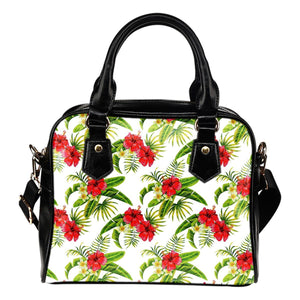Aloha Hibiscus Tropical Pattern Print Shoulder Handbag GearFrost
