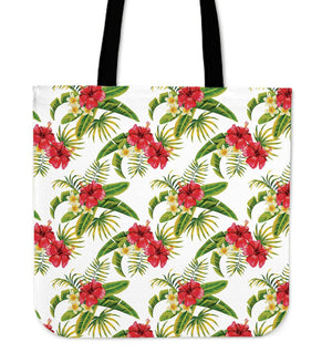 Aloha Hibiscus Tropical Pattern Print Tote Bag GearFrost