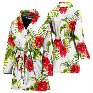 Aloha Hibiscus Tropical Pattern Print Women's Bathrobe GearFrost