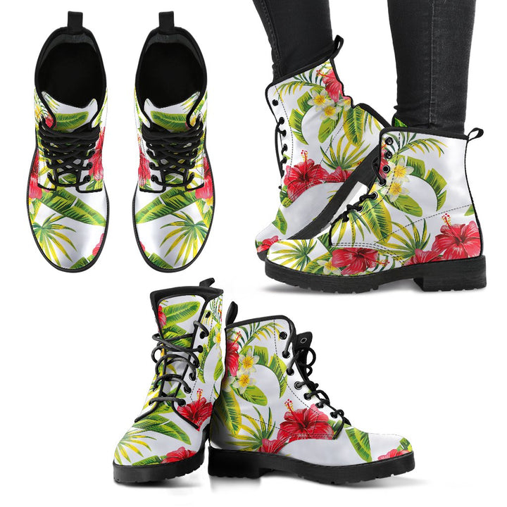 Aloha Hibiscus Tropical Pattern Print Women's Boots GearFrost