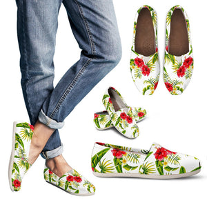 Aloha Hibiscus Tropical Pattern Print Women's Casual Shoes GearFrost