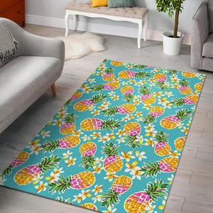 Aloha Summer Pineapple Pattern Print Area Rug GearFrost