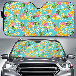 Aloha Summer Pineapple Pattern Print Car Sun Shade GearFrost