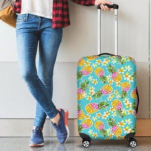Aloha Summer Pineapple Pattern Print Luggage Cover GearFrost