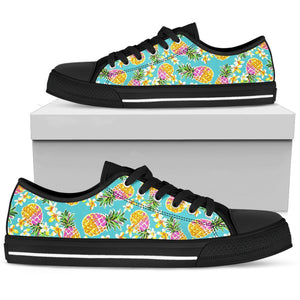 Aloha Summer Pineapple Pattern Print Men's Low Top Shoes GearFrost