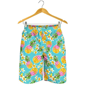 Aloha Summer Pineapple Pattern Print Men's Shorts GearFrost