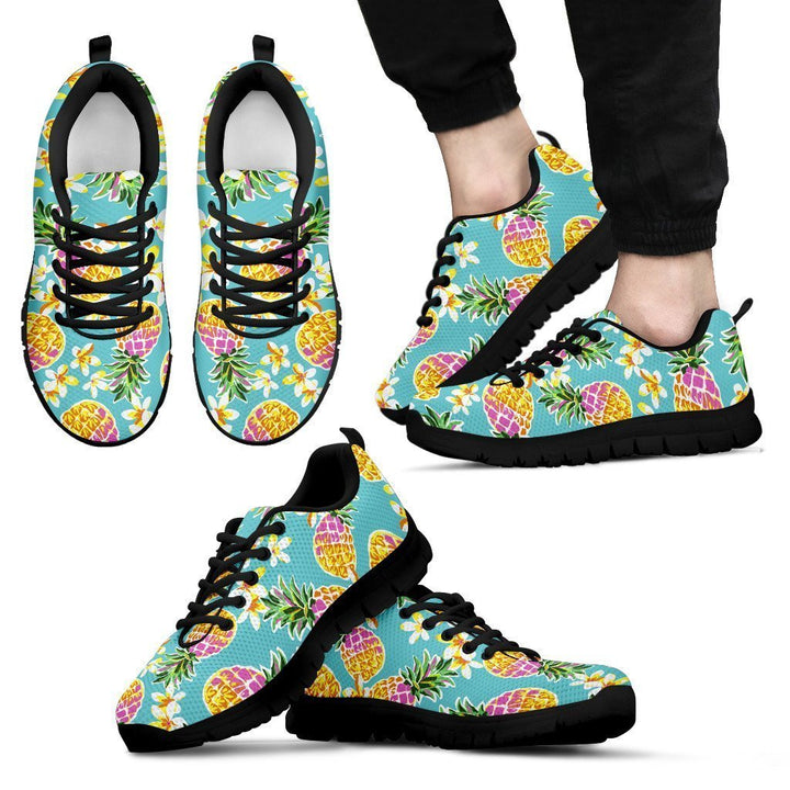 Aloha Summer Pineapple Pattern Print Men's Sneakers GearFrost